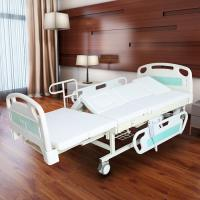 Medical Electric Full Size Adjustable Bed For Elderly White Color Manufactures