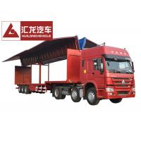 Drop Deck Wingspan Trailer  Curtain Side Trailer High Loading and Unloading Efficiency Manufactures