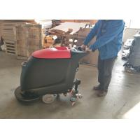 Portable Walk Behind Concrete Floor Scrubber With 45L Recovery Tank No Residue Manufactures