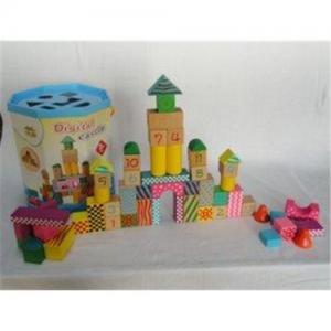 Digital Castle Non Toxic Green Paint / Cute Big Ears Children Wooden Building Blocks Manufactures