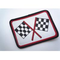 Decorative Embroidered Number Patches Polyester For Apparel Dress Manufactures