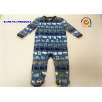 Professional Tiny Baby Pram Suit 100% Cotton Car Print OEM / ODM Available Manufactures