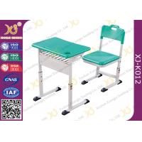 Classroom Single Modern Student School Desk And Chair Set With Aluminum Alloy Frame Manufactures