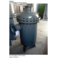 Quality Moisture Separator For Compressed Air , Spiral Agglomerate Filtration Compressed Air Oil Filter for sale