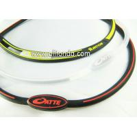 China Very slim personalized design rubber bracelet, logo printed silicone wristband on sale