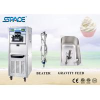 Commercial 3 Flavor Soft Serve Freezer , Ice Cream Maker Machine For Business Manufactures