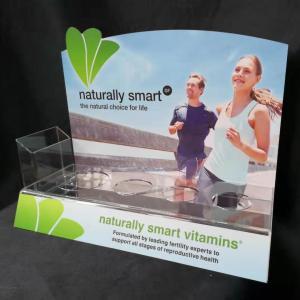 4 Bottles Vitamin Transparent Acrylic Countertop Display Racks Manufactures