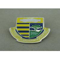 School Die Stamped Soft Enamel Pin With Brooch , Iron Badge Pin Manufactures