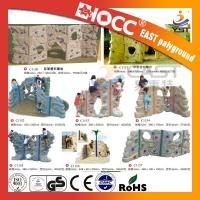 China Outdoor Rock Plastic Climbing Wall Steel Pipe Structure PVC Coated Deck on sale