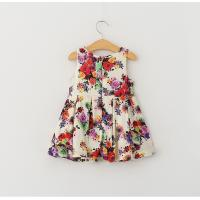Quality Wholesale summer Girls Dress fashion floral pattern dress children customizable clothing for sale