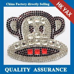 rhinestone patch,pretty shiny chaton transfer motif,rhinestone for headband Manufactures