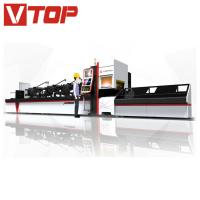 China CNC automatic bundle loader fiber laser metal tube cutting machine 6000mm price on sale