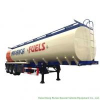 Carbon Steel Oil Transport Tank Trailer Tri Axle Heavy Capacity 30000L-45000L Manufactures