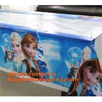 Ice And Snow Baby Favor Decoration princess Party Tablecover Supply, Hot Sale party plastic tablecover supplies kids bir Manufactures
