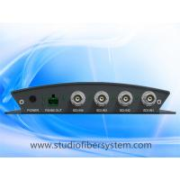 Buy cheap compact 4channel broadcast 3GSDI over 1 singlemode fiber optic extender to 20~80KM without delay from wholesalers
