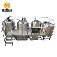 SL-1200 Commercial Brewing Equipment Stainless Steel / Red Copper Material Manufactures