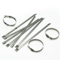 L Lock Stainless Steel Cable Tie , Stainless Steel Locking Ties 9 * 150mm / 13 * 150mm Manufactures