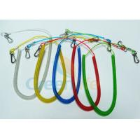 Retractable Long Coiled Fishing Tool Lanyard , Fall Protection Fishing Rod Leash Manufactures