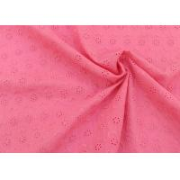 OEM Embroidery Eyelet Cotton Dying Lace Fabric With Floral Circle Pattern For Top Manufactures