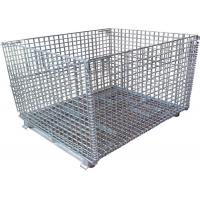 China Color Storage Rack Container Metal Wire Mesh Container on sale