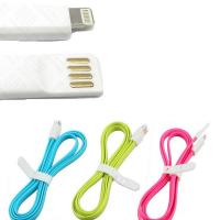 China Magnetic Flat 8 pin usb phone charger cable Sync Charging Data wire on sale
