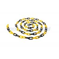 8 MM Diameter Traffic Cone Plastic Chain Link With Black Yellow Color Manufactures