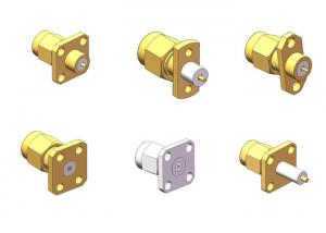 50 Ohm RoHS Compliant Brass SMA Male Series Coaxial Connector
