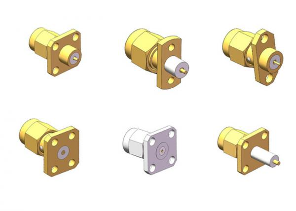 Quality 50 Ohm RoHS Compliant Brass SMA Male Series Coaxial Connector for sale
