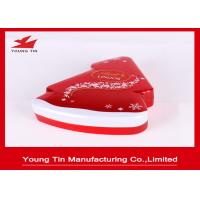 Quality New Year Holiday Candy Gift Tins With Custom Artwork Printing and Embossing for sale