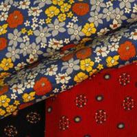 China 100% Cotton corduroy printed fabric, thick and soft hand texture on sale
