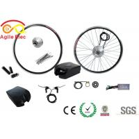 Durable Brushless Geared Bicycle Wheel Motor Kit 36V 250W With Frog Type Battery Manufactures