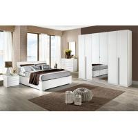 White High Gloss Bedroom Furniture Sets 6 Door Mirrored Wardrobe Acid Resistant Manufactures