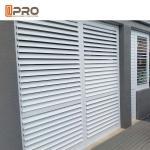Sound Insulation Customized Fixed Aluminium Louver Window / Aluminium Plantation Shutters Manufactures