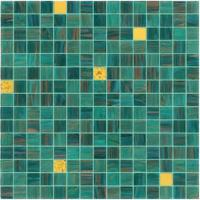 Good sale green mosaic with gold line 20mm glass mosaic mix pattern Manufactures