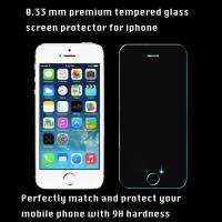 China iPhone tempered glass screen protector 0.33 mm 9H hardness high transparency clear vision on sale