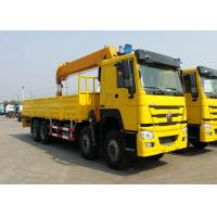 360° All Rotation Truck Mounted Crane 371HP Engine HOWO Chassis 10m Crane Jib Manufactures