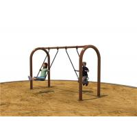 Brown Children Swing Sets For 2 Children Standard Height Small Manufactures