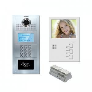 China 5 multi apartment cat 5 one cable/ 4+2 wire analog video door phone handsfree video intercom door phone on sale