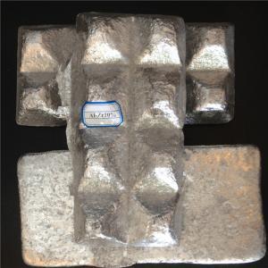 China Ingot Shape High Purity Aluminium Master Alloy AlTi AlCu AlV AlSr AlZr on sale