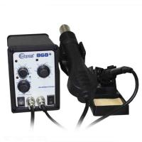 China Two In One Hot Air Rework Soldering Station With Brushless Fan Soft Wind Green 868 on sale