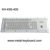 Panel Mount Metal Industrial Keyboard With Trackball 95 Keys Standard PC Layout Manufactures