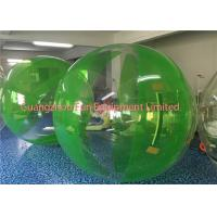 Green Inflatable Water Walking Ball Roll Inside High Performance Environment Friendly