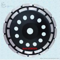 China Double Row Diamond Cup Grinding Wheel for Granite and Concrete - DGWS04 on sale
