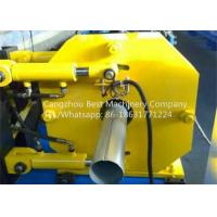 Hydraulic Gutter Roll Forming Machine , Steel Rain Down Pipe Making Machine Manufactures