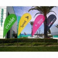 China Flying Flag Banner Display with Single/Double Sides and Up to 1.8m Width on sale