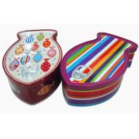 Metal Tin Containers Fish Shaped Environment - Friendly Large Cookies Tin Box Manufactures