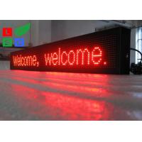 IP65 Waterproof LED Scrolling Sign Red Color USB / U-disk Control For Shop Facade Sign Manufactures