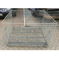Industrail Wire Mesh Pallet Cages , Warehouse Folding Wire Mesh Storage Boxes Manufactures