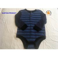 Color Customized Newborn Baby Bodysuits Double Face Infant Boy Rompers Manufactures