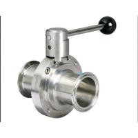 China Stainless Steel Hygienic Butterfly Valve on sale